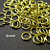 500 pcs of 5mm Bright Gold Finish Jump Ring
