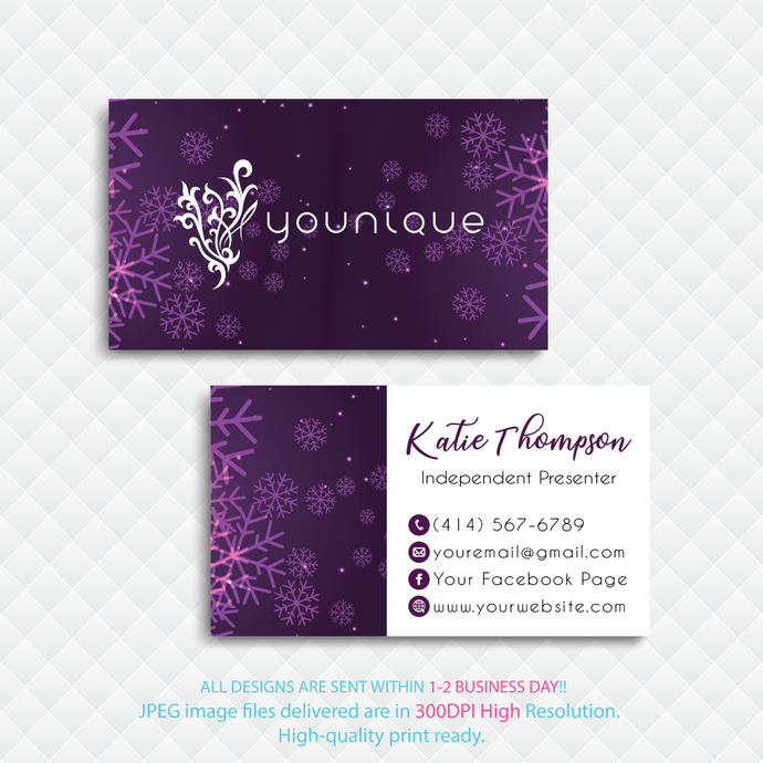 Custom Younique Cards, Personalized Younique Business Cards, Custom Business