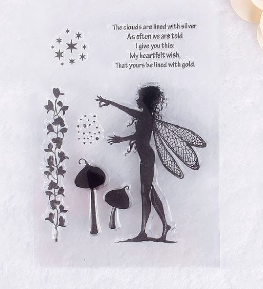 Fairy Girl Stamp Set Sprinkling Fairy Dust, Mushrooms and Sentiments!