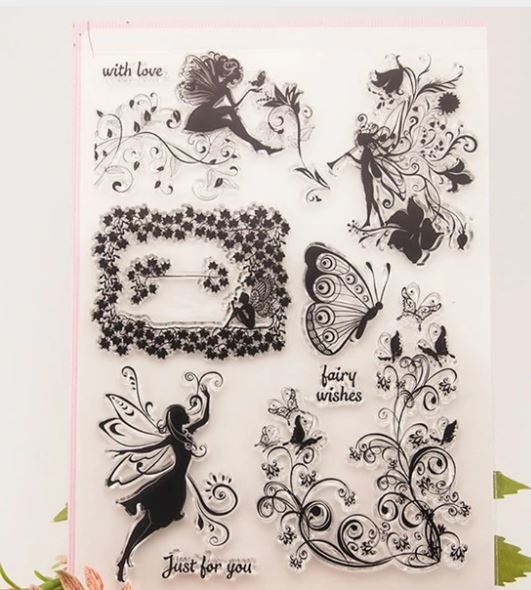 Large Fairies and Flourishes Stamp Set!