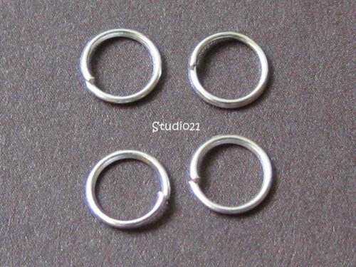 300 pcs 5mm Bright Silver Finish Jump Ring