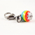 Rainbow bead bell charm for Cats, Pet accessories, Zipper Pull, Removable