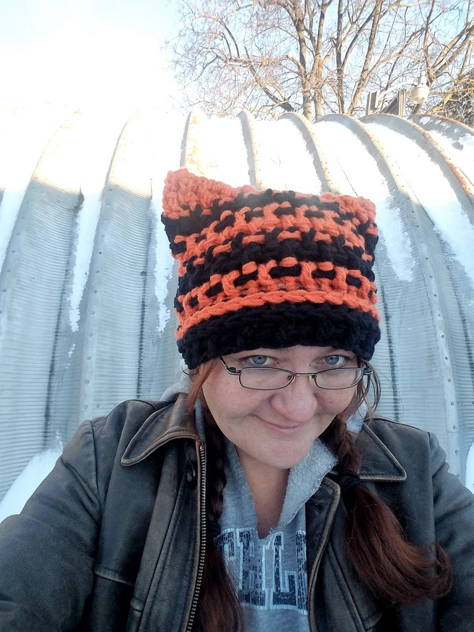 Crochet Pattern, Textured Cat Hat, PDF File Only, Tiger Hat, Fox Hat, Bulky,