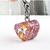 Rose gold glitter heart collar charm for pets, handmade, resin, stainless steel