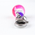Candy Bead Clip On Charm with Bell, Pink, Purple - Pet Accessories, Zipper Pulls
