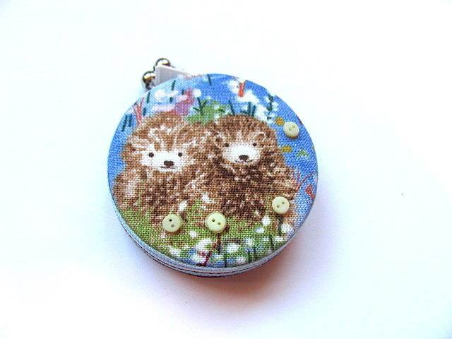 Tape Measure Hedgehogs in Flower Field Retractable Measuring Tape