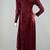 80s Crushed Velvet Dress Vintage, Burgundy Velvet Maxi Dress Long Sleeve,  All