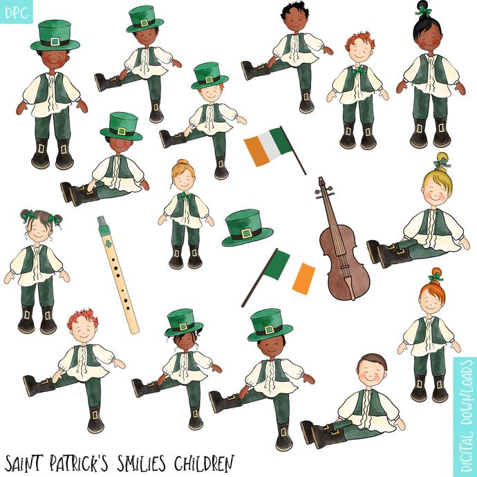 Saint Patrick Day Clipart, Ireland Scrapbook, Saint Patricks Day, Children