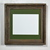 8x10 green mat in upcycled wood picture frame rustic style