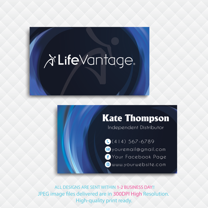 LifeVantage Custom LifeVantage Cards, Personalized LifeVantage Business Cards,