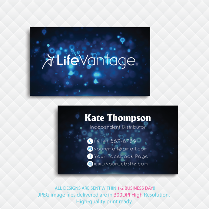 Personalized LifeVantage Business Cards, LifeVantage Custom LifeVantage Cards,