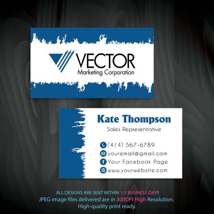 Personalized Vector Marketing Business Cards, Vector Marketing Business Cards,