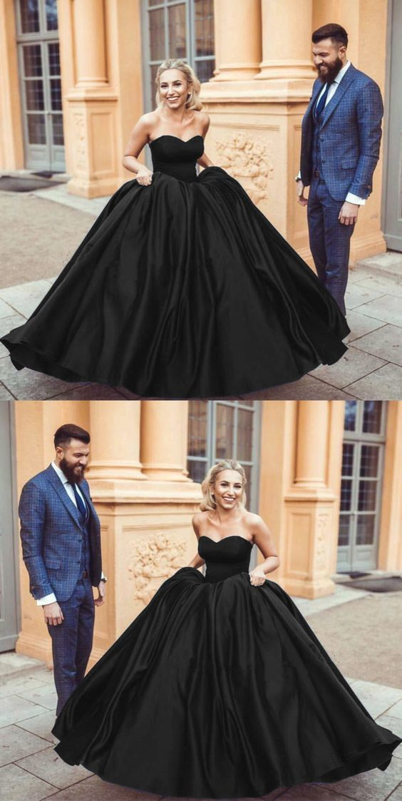 47348195e4 Black Wedding Dresses Sweetheart Ball Gowns For by ainiprom on Zibbet