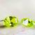 1pcs - 13x18mm Apple Green Topaz Oval CZ Gemstone - 20ct