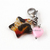 Acrylic Star and Heart Pet Collar Charm, Animal Print, Pink, Handbag