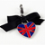 Union Jack Pet Collar Charm, Black Ribbon, Pet Fashion, Cat Accessories, Zipper