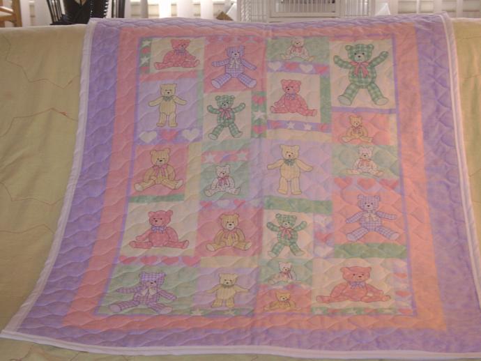 Girl's Quilt, Pillow and Organizer Set