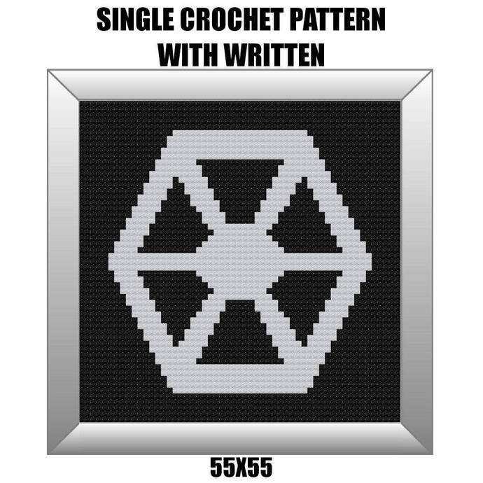 Separatists Crochet Graph Pattern 55x55