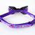 Purple Pet Collar with Polka Dot Ribbon and Charms, Kawaii, Cat Lovers, Pet