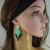 Boho beaded earrings for women, Beaded long earrings, Bohemian earrings, Boho