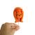 Lollie Orange, lollipop girl, needle felted Art Toy, collectible art doll