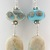 Aged Earrings - handmade ribbon turquoise ivory black sterling silver etched
