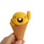 Scoopsie Mango, a friendly ice cream scoop , one of a kind felt wool plush Art
