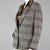90s Tweed Style Boyfriend Blazer Vintage, Black & Taupe Equestrian Blazer, Plaid