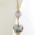 Light Blue Venetian Hearts Earrings - gold filled baroque drop white gold leaf