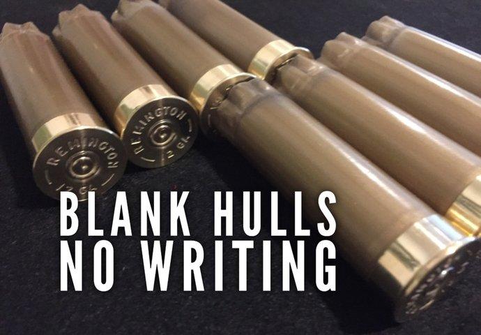 8 Blank Gold Empty Shotgun Shells 12 Gauge No Markings On Hulls Spent Shotshells