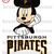 Mickey Pittsburgh Pirates Baseball  Inspired  Iron On Transfer