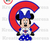 Minnie Chicago Cubs Inspired Iron On Transfer