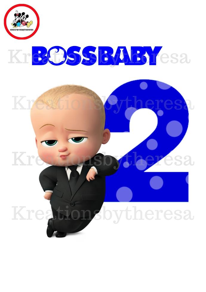 Boss Baby Birthday Boy iron On Transfer/  Caucasian American