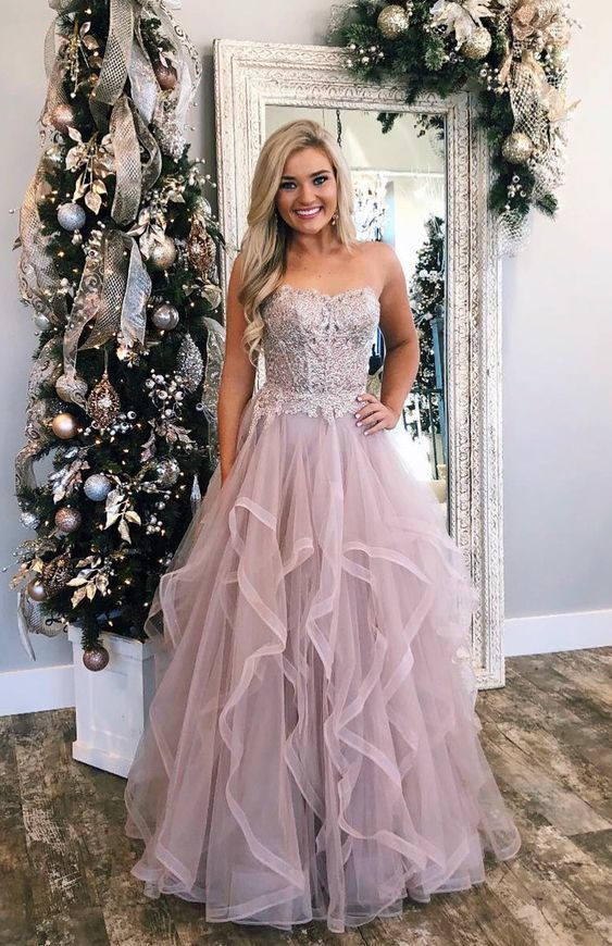 53e32dd83964 Gorgeous Sweetheart Champagne Long Prom Dress, 2019 Prom Dress, Formal  Evening