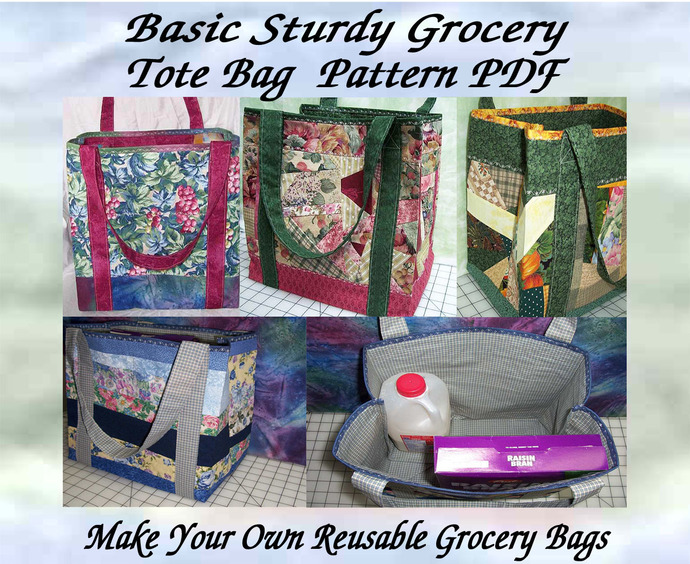 Basic Sturdy Grocery or Tote Bag Pattern