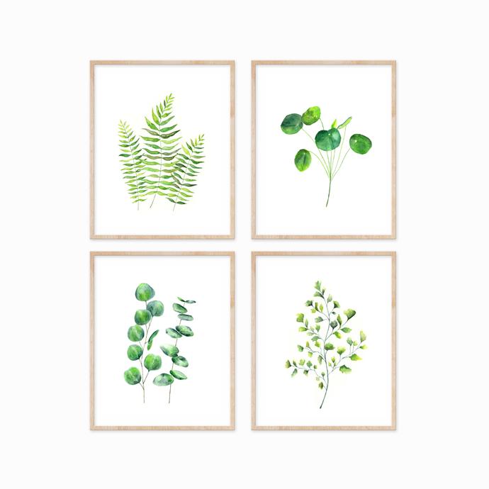 Sword Ferns Print, Watercolour Fern Print, Watercolour Leaves Print, Botanical