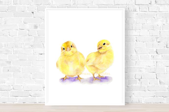 Baby Chicks Print