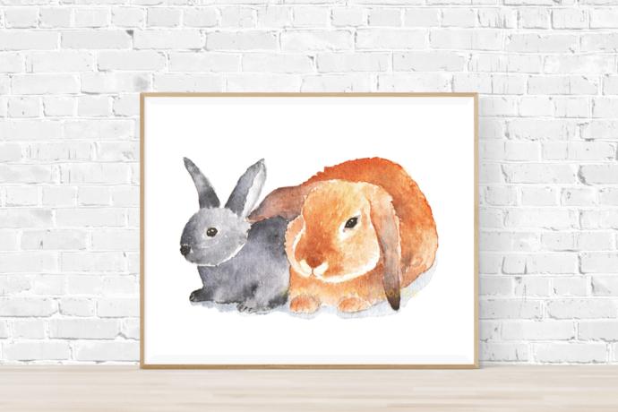 Loving Bunnies Print
