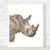 Rhino Print, Watercolour Rhino, Rhinoceros Print, Animal Illustration, Art for