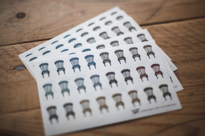 Classiky small sticker - Chairs - perfect for journaling & happy mail -CSS-