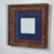 10 x 10 shabby chic picture frame with blue 5x5 mat 20 mat colors available