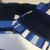 Decorated Navy Blue Hand Towels