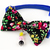 Flower Print Cat Bow Tie with Beads, Pet Accessories, Photo Props, Weddings, Bow