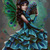 Peacock Fairy Cross Stitch Pattern***LOOK*** ***INSTANT DOWNLOAD***