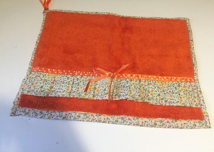 Decorated Orange Hand Towels