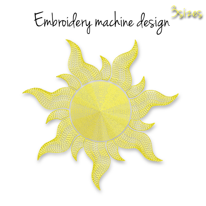 Rapunzel' sun embroidery machine design Disney