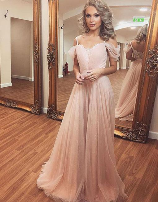 Charming Prom Dress, Sexy Prom Dresses, Tulle Long Evening Dress