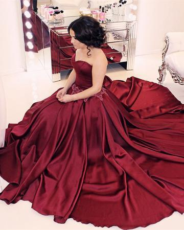 Sweetheart Burgundy Prom Dress, Sexy Sleeveless Prom Dresses, Long Formal
