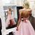 Backless Prom Dress, Pink Prom Dress, High Low Prom Dress, Elegant Prom Dress,
