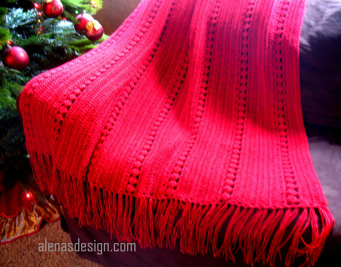 Red Diamond Throw Crochet Pattern 118 Throw Pattern Any Size Blanket Home Decor